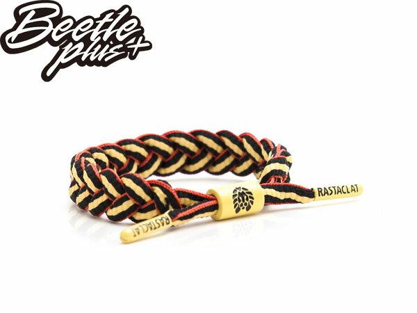 BEETLE PLUS 西門町經銷 全新 美國品牌 RASTACLAT SHOELACE BRA RA-14CELET 黑紅 黃 德國 世足 編織 手環 RA-14 - 限時優惠好康折扣