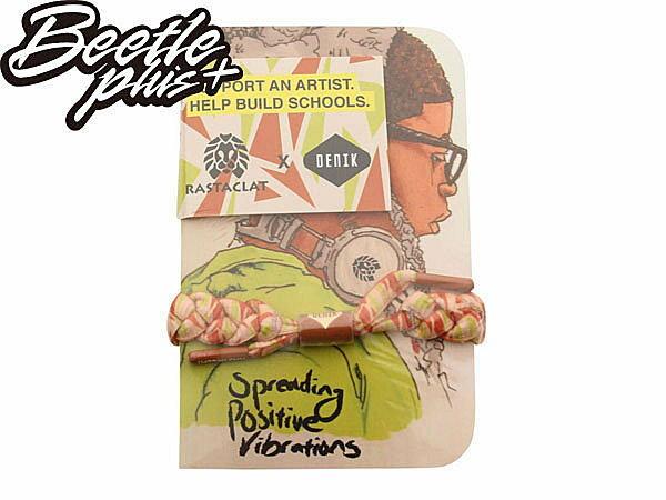 BEETLE PLUS 西門町經銷 全新 美國品牌 RASTACLAT X DENIK BRACELET 白 橘綠 藝術家 聯名 手環 附口袋書 RA-18 0