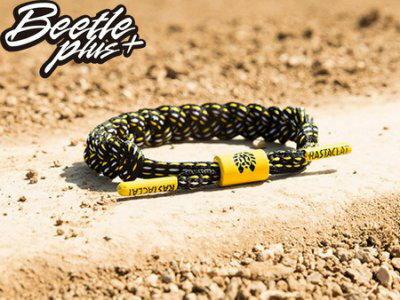 BEETLE PLUS 西門町經銷 全新 美國品牌 RASTACLAT SHOELACE BRACELET THE BURGH 黑白 黑黃 條紋 鞋帶編織 手環 RA-53 - 限時優惠好康折扣