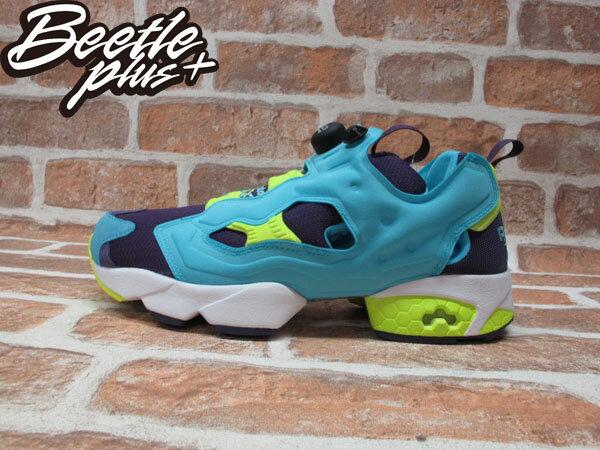 BEETLE REEBOK INSTA PUMP FURY OG 水藍 藍紫 螢光黃 毛怪 怪獸大學 充氣 慢跑鞋 M46892 0