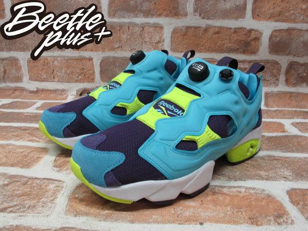 BEETLE REEBOK INSTA PUMP FURY OG 水藍 藍紫 螢光黃 毛怪 怪獸大學 充氣 慢跑鞋 M46892 1