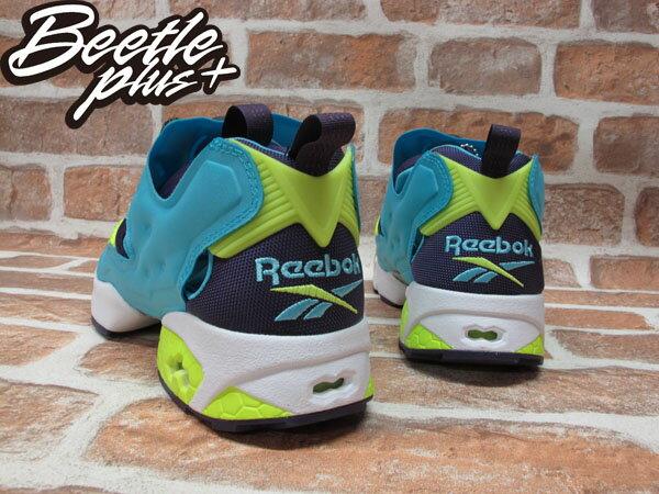 BEETLE REEBOK INSTA PUMP FURY OG 水藍 藍紫 螢光黃 毛怪 怪獸大學 充氣 慢跑鞋 M46892 2