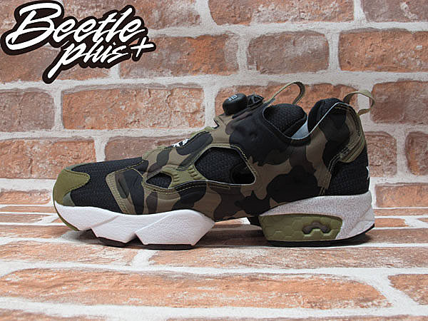 BEETLE PLUS A BATHING APE X REEBOK PUMP FURY MITA SNEAKERS BAPE 迷彩 猿人 余文樂 V61765