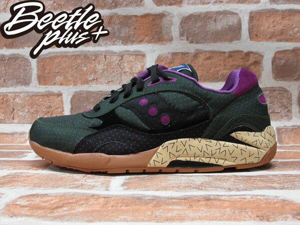 BEETLE PLUS SAUCONY SHADOW 6000 綠 紫 點點 尼龍 慢跑鞋 S70154-1 D-098 0