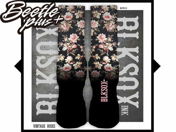 BEETLE PLUS 西門町 全新 現貨 VINTAGE ROSES LUXURY SOCKS FOR KD VI AUNT PEARL 復古 玫瑰 BLKSOXINK