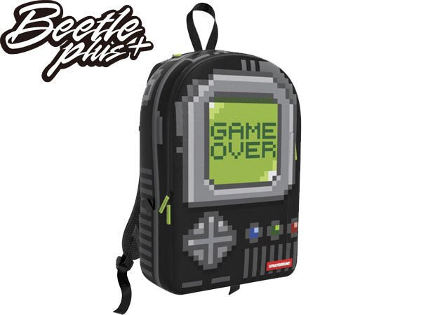 BEETLE PLUS 全新 SPRAYGROUND 超強功能性 後背包 PIXEL GAME OVER 遊戲機 BLACK 黑 灰 綠 SP-28 - 限時優惠好康折扣