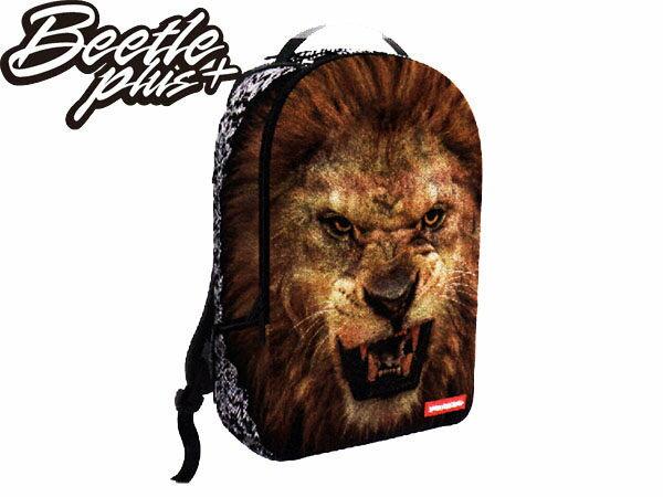 BEETLE PLUS 全新 SPRAYGROUND 美國潮牌 超強功能性 後背包 LION 獅子 臉 FACE 動物 花紋 SP-36 - 限時優惠好康折扣