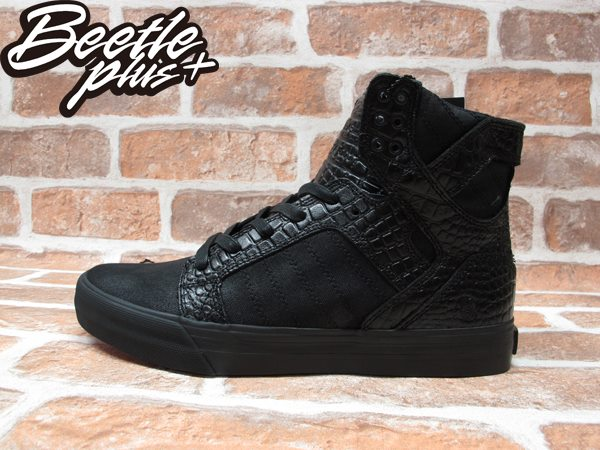BEETLE PLUS SUPRA SKYTOP X BEN BALLER 413 黑紅 鱷魚紋 皮革 聯名 高筒 跳舞鞋 滑板鞋 羅志祥  S19502 0