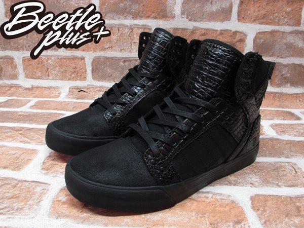 BEETLE PLUS SUPRA SKYTOP X BEN BALLER 413 黑紅 鱷魚紋 皮革 聯名 高筒 跳舞鞋 滑板鞋 羅志祥  S19502 1