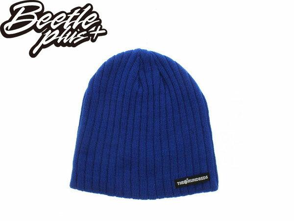 BEETLE PLUS THE HUNDREDS THE JIM BEANIE 藍 寶藍 素面 毛帽 針織帽 炸彈 0