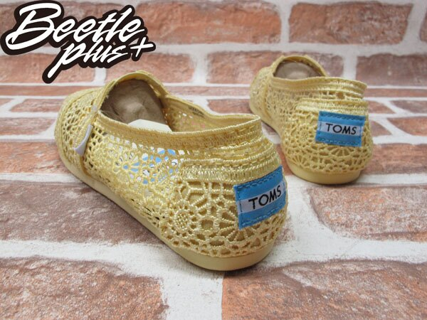 BEETLE PLUS 全新 TOMS CLASSICS LEMON CROCHET WOMEN 女鞋 雕花 檸檬黃 平底 帆布鞋 001096B13-LEM TOMS-03 2