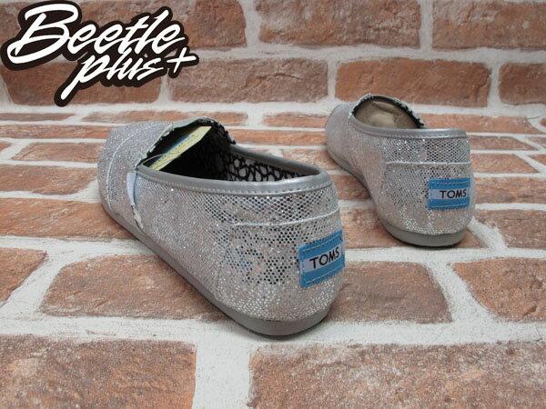 西門町 BEETLE PLUS 全新 現貨 TOM'S SHOES SILVER GLITTERS EVA 銀色 亮片 女鞋 001013B07-SIL TOMS-08 2