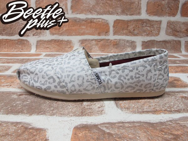 BEETLE PLUS 全新 TOMS CLASSICS SILVER SNOW LEOPARD WOMEN 女鞋 布面 白 豹紋 平底 帆布鞋 TOMS-017 0