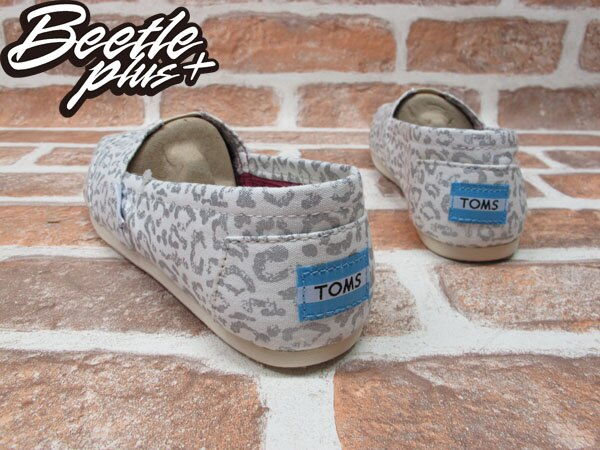 BEETLE PLUS 全新 TOMS CLASSICS SILVER SNOW LEOPARD WOMEN 女鞋 布面 白 豹紋 平底 帆布鞋 TOMS-017 2