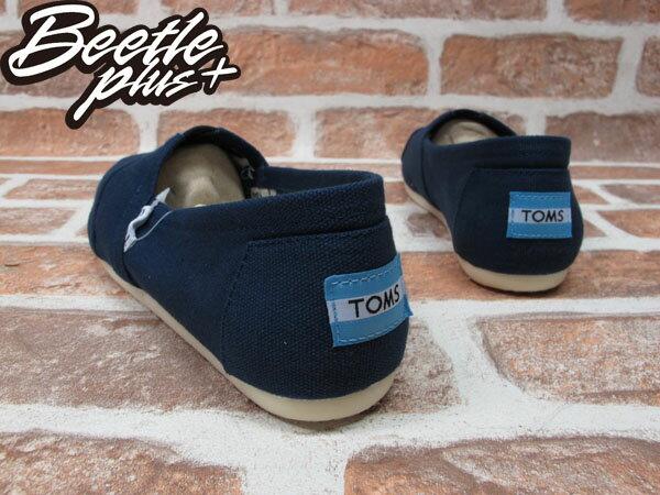 BEETLE PLUS 全新 TOMS CLASSICS NAVY CANVAS WOMEN 女鞋 布面 藍 平底 帆布鞋 TOMS-018 2