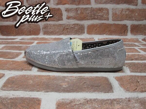 西門町 BEETLE PLUS 全新 現貨 TOM'S SHOES SILVER GLITTERS EVA 銀色 亮片 女鞋 001013B07-SIL TOMS-08 0