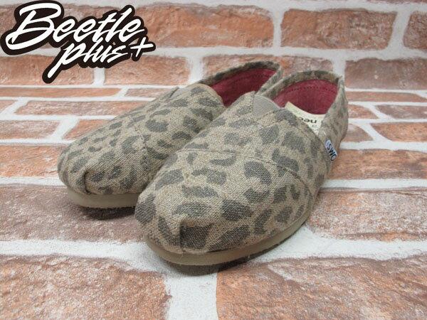 BEETLE PLUS 全新 TOMS LEOPARD BURLAP WOMEN'S CLASSICS 女鞋 好萊塢女星 麻紗 時尚豹紋 TOMS-027 1
