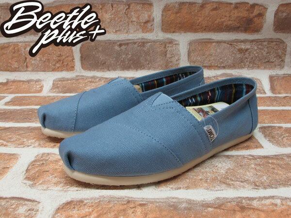 BEETLE PLUS 全新 現貨 CLASSICS TOMS BLUE 天空 水藍 布面 休閒 平底 懶人鞋 阿甘鞋 帆布鞋 TOMS-034 1