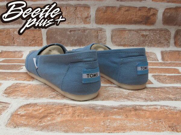 BEETLE PLUS 全新 現貨 CLASSICS TOMS BLUE 天空 水藍 布面 休閒 平底 懶人鞋 阿甘鞋 帆布鞋 TOMS-034 2