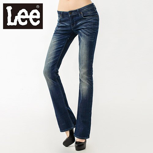 ~跨店馬拉松~搶貨崩殺~Lee牛仔褲~413超低腰合身靴型女款^(藍^)~10 07~10