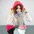 毛帽 素色粗線麻花捲邊針織毛帽【QI1599】 BOBI  10/13 0