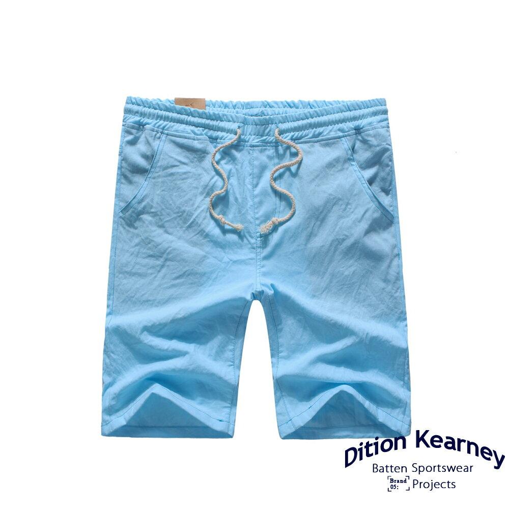 DITION SHOP  無印職人涼感棉抽繩螺紋短褲 膝上 6