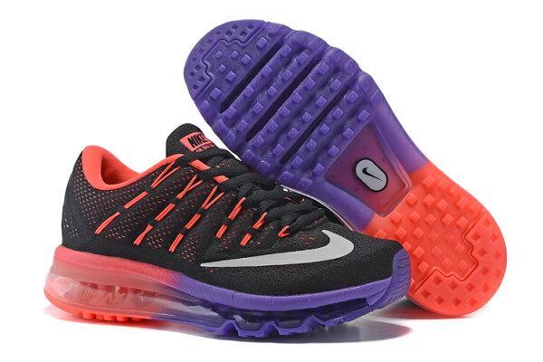 NIKE Air Max 2016 女生氣墊跑鞋 運動鞋 全掌氣墊女子鞋 6091 黑紅紫36-40