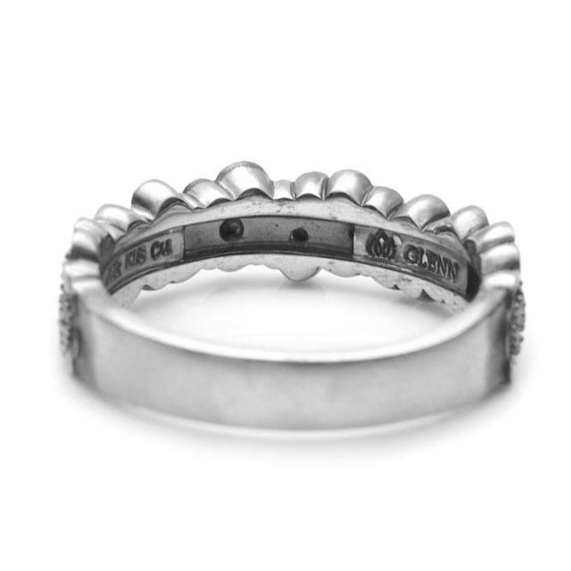【海外訂購】【GLENN】梅花環純銀戒指(GL-0081) 1