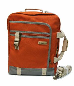 CORRE【CP803】 復古帆布手提後背兩用包 藍/橘/紅 共三色 7