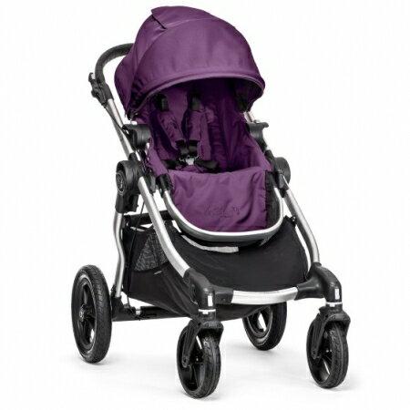 美國【Baby Jogger】City Select 四輪嬰兒推車 (銀管紫)