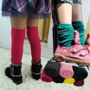 [韓風童品]出口韓國 爆款韓式糖果色堆堆襪 百搭公主襪系列 長筒襪 中筒襪 膝上襪/長襪/純色高筒襪/堆堆襪/糖果襪 兒童襪