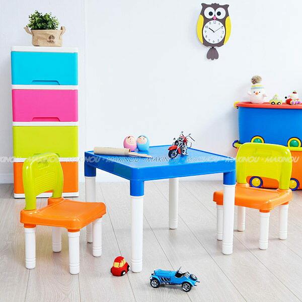 日本MAKINOU 餐桌椅|可愛兒童桌椅組合-台灣製|日本牧野 書桌椅 用餐椅 塑料桌椅 靠背椅 學習桌 MAKINO
