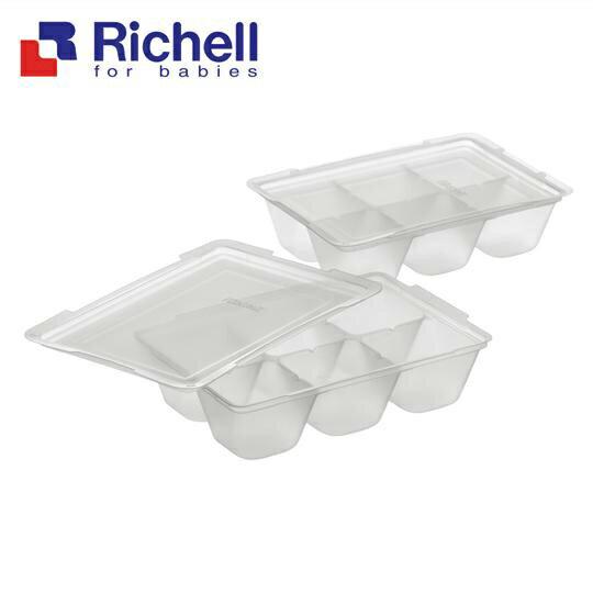 Richell利其爾 - 離乳食連裝盒 50ml/2組 (含上蓋) - 限時優惠好康折扣