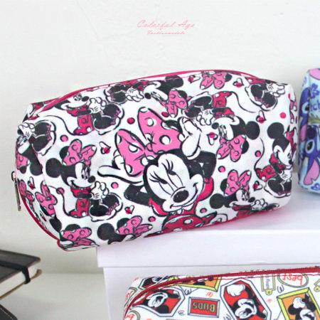鉛筆盒 正版迪士尼Disney系列帆布化妝包/筆袋 滿版圖鴉人氣卡通圖案 柒彩年代【NS10】收納袋 0