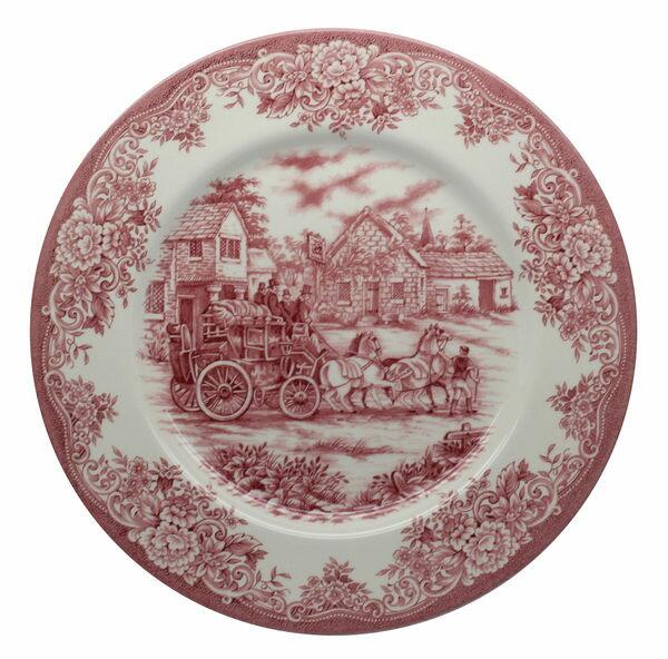 英國 Royal Stafford 老英格蘭風情系列- 28cm 彩繪盤(馬車風光)