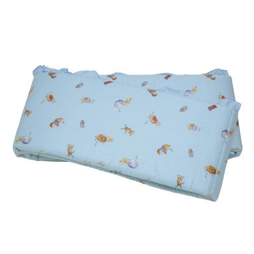 『121婦嬰用品館』狐狸村 精梳棉加高床護圈 - L(藍) 0