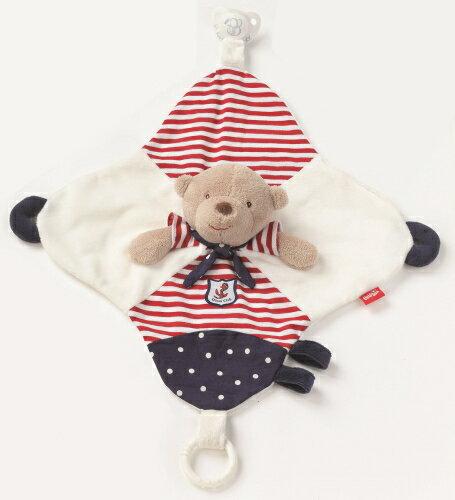 babyFEHN芬恩 - 海洋樂園水手熊安撫布偶奶嘴巾 2