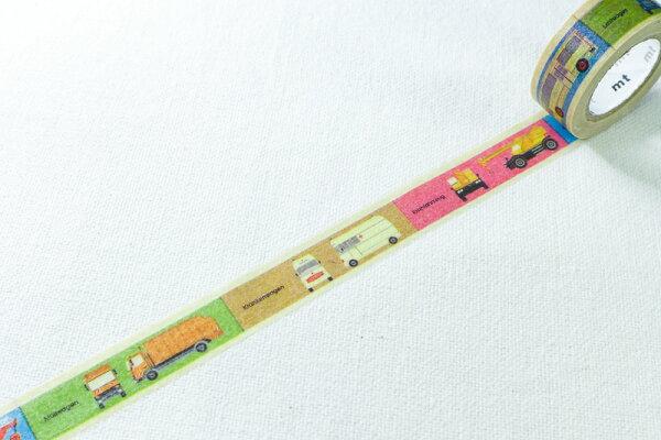 *小徑文化*日本和紙膠帶 mt for kids - 交通工具柄 ( MT01KID012 )