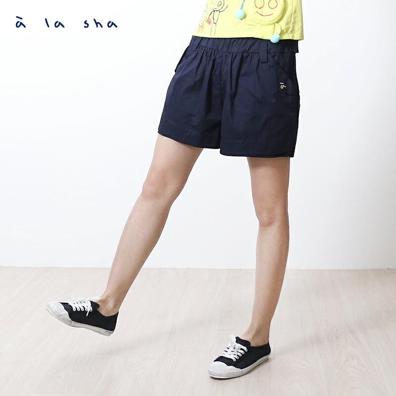 a la sha mucha 口袋打褶造型短褲裙 2