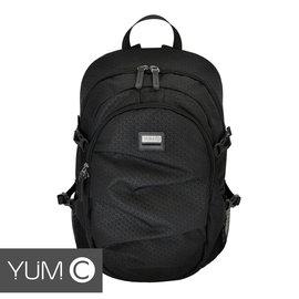 【風雅小舖】【美國Y.U.M.C. Greenwich格林系列Active Backpack 15.6吋筆電後背包 黑色】電腦包/雙肩背包 可容納15.6吋筆電 - 限時優惠好康折扣