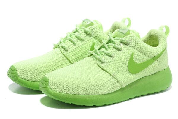Nike Roshe Run 倫敦奧運網布慢跑鞋 女鞋 (熒光綠36-39)