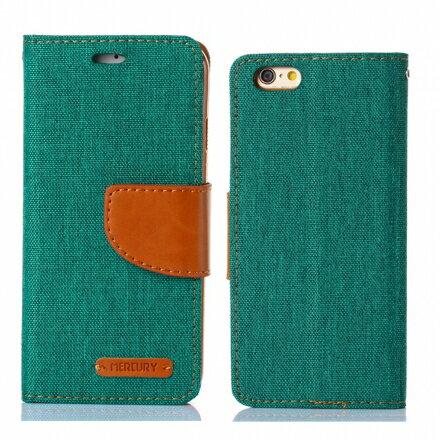 Mercury Samsug Note 5 韓風雙色牛仔紋 側掀磁扣支架式皮套 矽膠軟殼 綠藍桃色 3