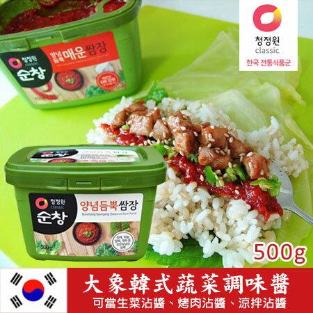 韓國必買 大象 韓式蔬菜調味醬 500g 拌飯醬 生菜沾醬 生菜包肉醬 進口食品【N100638】