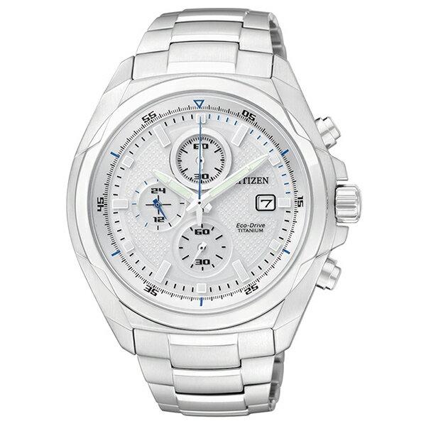 CITIZEN星辰CA0190-56B超級鈦光動能腕錶/白面43mm