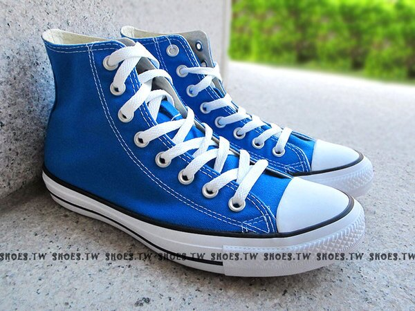 《限量5折》鞋殿【XXXU170012】CONVERSE 基本款 ALLSTAR帆布鞋 鋼印 高筒 亮藍