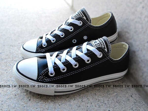 [26cm]《限量5折》Shoestw【XXXU170440】CONVERSE 經典 基本款 荔枝皮革 低筒 黑色