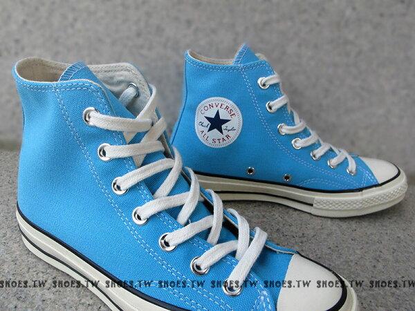 《限量5折》鞋殿【142335C】CONVERSE 帆布鞋 ALLSTAR 基本款 原版復刻 高筒帆布 水藍 奶油頭 女款