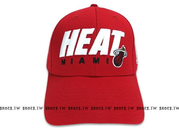 鞋殿【8361301002】NBA 運動帽 棒球帽 銅扣調整帽 邁阿密 熱火隊