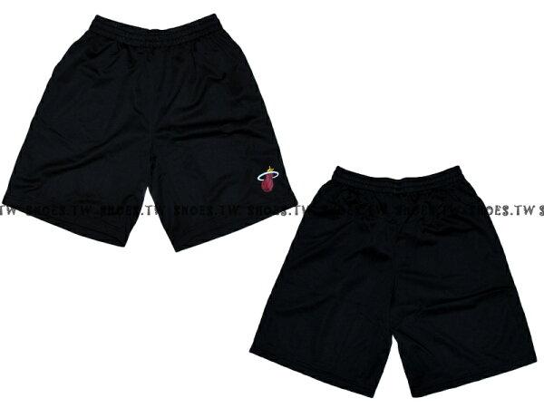 【8330504002】NBA 籃球褲 透氣排汗 熱身褲 邁阿密 熱火隊 黑色