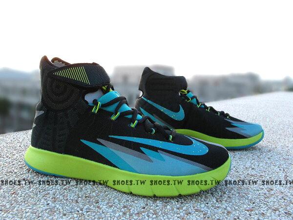 [US12=30cm] Shoestw【630913010】NIKE ZOOM HYPERREV 籃球鞋 IRVING 爾文 黑藍螢光綠 男款